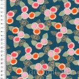 Purl | Embroidered Floral Teal Metallic [2036-14M]_