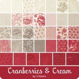 Moda Candy | Cranberries & Cream by 3 Sisters_