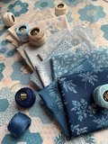 Bluebird   Snowdrop Pressed Flower [9839L]_