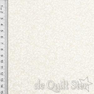 Muslin | Creme met witte blaadjes [9939-13]