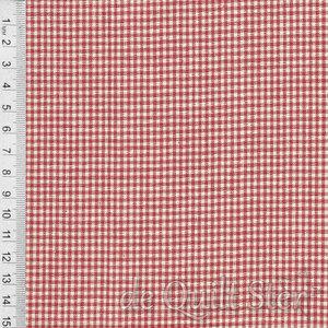 SALE Atelier de France | Woven Ruit rood/Creme [12558-14]