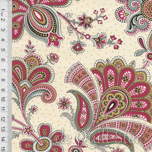 COUPON Emma | Jacobean Floral Cream [8769L] 156x110cm