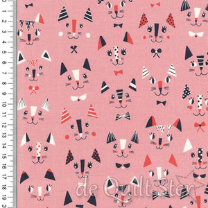 COUPON Cool for Cats | Pink [1387] 43x110cm