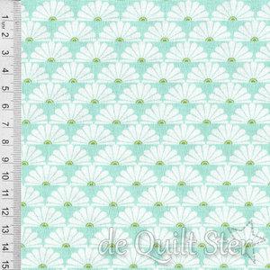 COUPON Darling Meadow | Fans aqua [TW174] 45x110cm