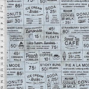 COUPON Sweet Tea | Advertisements ijsblauw [5720-12] 61x110cm