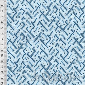 COUPON Cozy Cabin | Weefsels blauw [9356B] 136x110cm