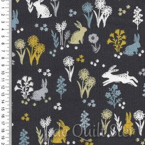 COUPON Grove   Rabbits Grey [2163S] 75x110cm