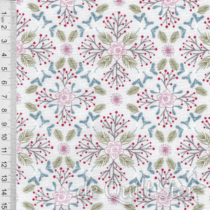COUPON Winter in Bluebell Wood | Poinsettia [C45-1] 55x110cm