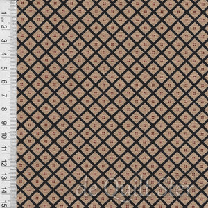 COUPON Shelbyville | Ruitje donkerblauw/beige [38075-18] 39x110cm