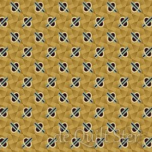COUPON Chesapeake | Geometric gold [9328LN] 110x110cm