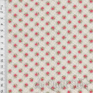 COUPON Ambleside   Roosjes grijs [18604-16] 104x110cm
