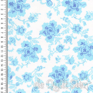 Library of Flowers | ivoor/blauw [ME014]