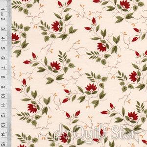 COUPON Glad Tidings | bloemetje rood [38093-13] 50x110cm