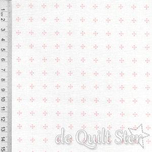 Daisy May   Shirting wit/perzik [20115]