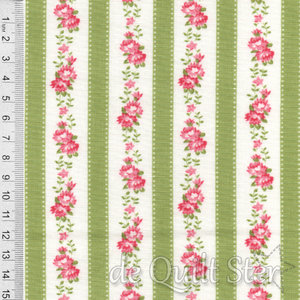 SALE Pocketful of Posies | Randstof bloemen groen/melon [33545-12]