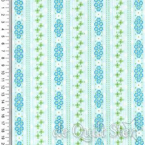 Flora Folk   Stripe blauw/groen [ME015]