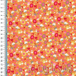 Solstice   Bloemen oranje/multi [51936-10]