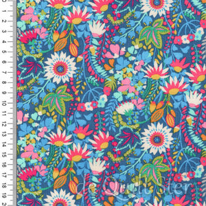 Solstice | Veldbloemen teal/multi [51932-1]