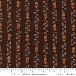 COUPON Timeless Geo/Streep bruin/rood/oranje [38027-14] 170x110cm