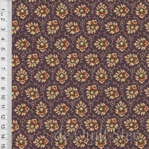 COUPON Pioneer Brides Blaadjes paars/rood [3233-2] 178x110cm