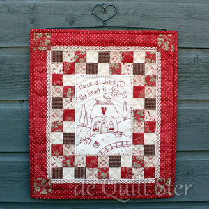 Quilt Ster Pakket Quiltje Home is where the Heart is