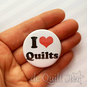 Button I Love Quilts