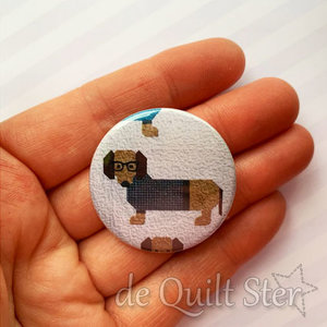 Button Dogs in Sweaters (Teckel-Quilt)