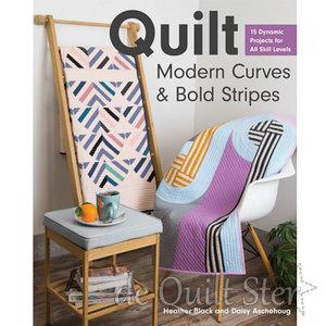 Heather Black - Quilt, Modern Curves & Bold Stripes