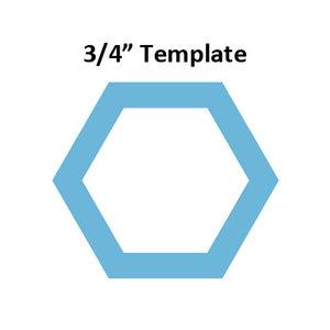 Hexagon 3/4inch - Template I-Spy