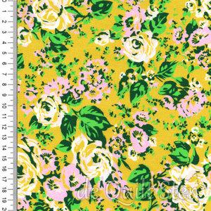 Posy | Bloemen mosterd/groen [52030-2]