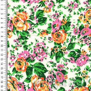 Posy   Bloemen roze/oranje/groen [52030-1]