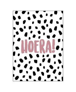 Ansichtkaart - 101 Dots Hoera