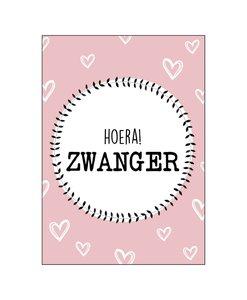 Ansichtkaart - Hoera Zwanger