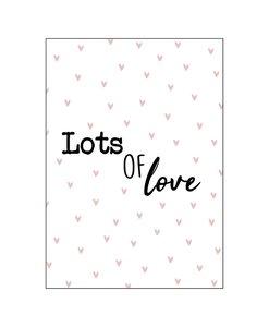 Ansichtkaart - Lots of love