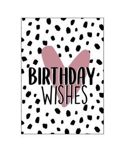 Ansichtkaart - Birthday Wishes