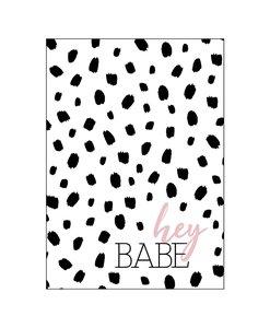Ansichtkaart - Hey Babe