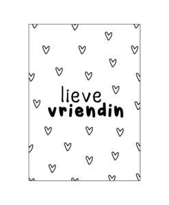 Ansichtkaart - Lieve vriendin
