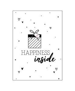 Ansichtkaart - Happiness inside