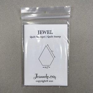 Stempel - Jewel 1/2inch korte zijde *IN BESTELLING*