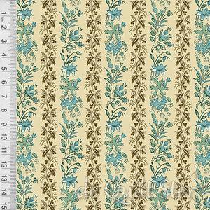 Rochester | Vining Floral Stripe Peacock [9134B]