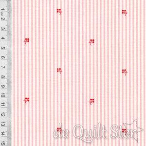 Roselyn | Stripe & Buds roze/rood [14917-15]