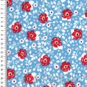 May Belle | Feedsack Flowers Blue [7651]