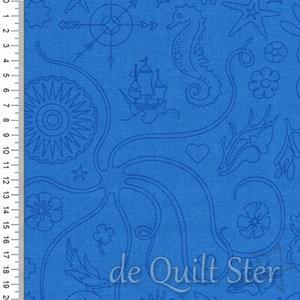 COUPON Alison Glass Sunprints   Embroidery Hyndrangea [9256B] 50x110cm