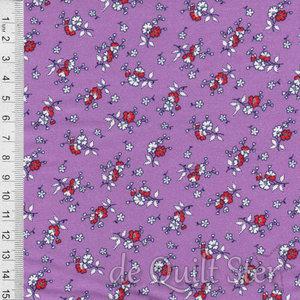 1930's Fabrics | Bouquet purple [345C]