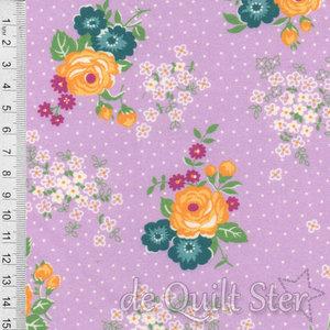 1930's Fabrics | Big Flowers lilac [8756H]