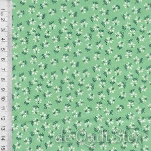 1930's Fabrics | Blanket Flower green [333M]