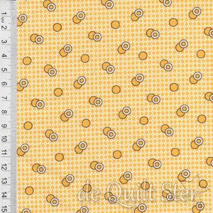 1930's Fabrics | Circles yellow [1040Y]