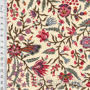 Antique Textiles Company | Chintz Provence Cream [4023]
