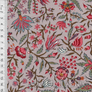 Antique Textiles Company   Chintz Provence Taupe [4023]