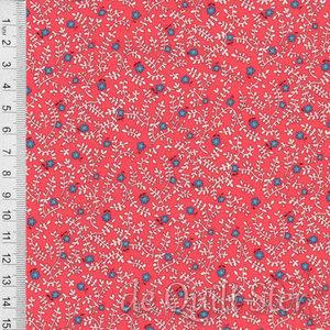 1930's Fabrics   Vine & Flower Coral [247B]